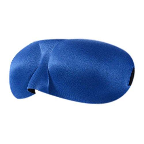 Ensemble de 2 masques unisexes/masques stéréoscopiques 3D confortables pour dormir/bleu