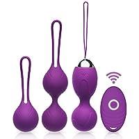 Acvioo Kegel Balls en Silicone Médicale pour Exercices de Plancher Pelvien Ensemble de 3 - Violet