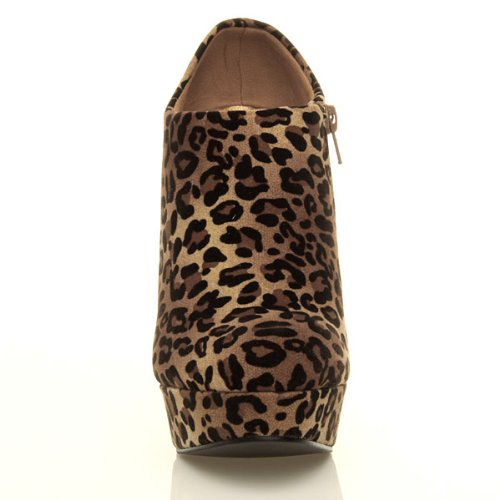 Ajvani, Stivali donna Marrone (Leopard Suede)