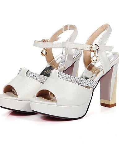 LFNLYX Chaussures Femme-Mariage / Habillé / Soirée & Evénement-Noir / Rose / Blanc / Beige-Gros Talon-Talons / A Plateau / Bout Ouvert-Sandales- Pink
