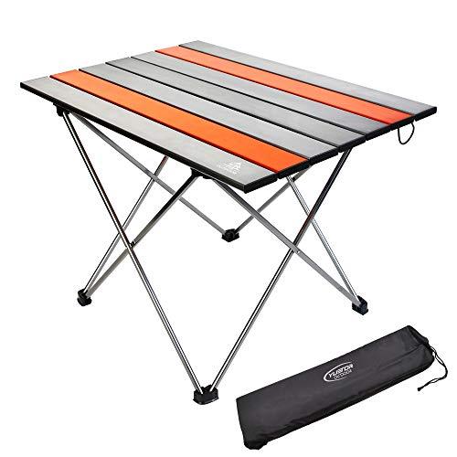 YTR OUTDOOR Klappbarer Campingtisch Klapptisch Beistelltisch aus Aluminium für Camping Outdoor 3 Size wählbar (M)