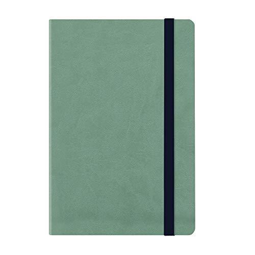 Medium weekly diary with notebook 18 mesi 2019/2020  - vintage green