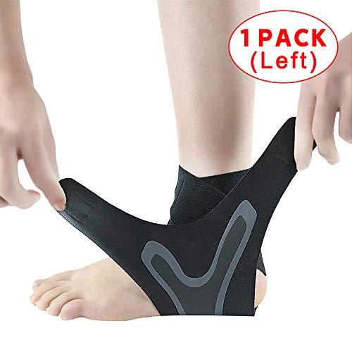 Knöchelbandage Knöchelgewichte Fitness Fersenschiene Beinmanschetten Knöchelarmbandage Sport gegen Verstauchungen, Linke und rechte Füße für Männer Frauen Knöchelbandage unterstützt (1 Left-L)