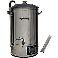 MyBrewery | Máquina compacta para elaborar cerveza artesana | 30 litros | Memoriza hasta 10 recetas | 9 escalones de temperatura programable