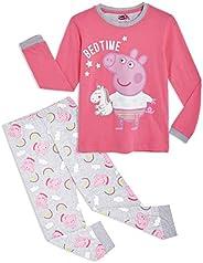 Peppa Pig Pijama para Niñas, Pijama Unicornio Niña de Manga Larga con Algodón Suave, Ropa Bebe Niña de Inviern