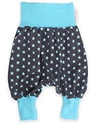 """bébé Pantalon bouffant Pantalon mitwachsen gris, """"étoiles"""" turquoise Sarouel Pantalon jersey de Petit Rois"""