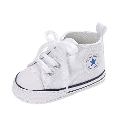 Auxma Zapatos Para Bebé Zapatilla de Deporte Antideslizante del Zapato de Lona de La Zapatilla de Deporte...