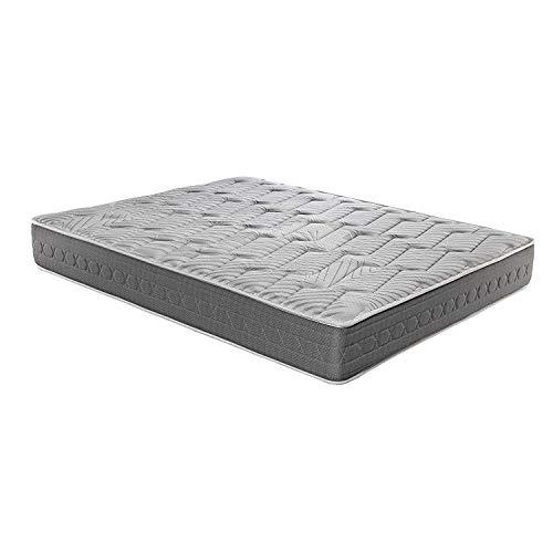 SUEÑO REAL Colchón viscoelástico Carbono 150x190 firmeza Alta, Gama Alta, Efecto regenerador, Altura 25cm - Colchones Ceramic Plus