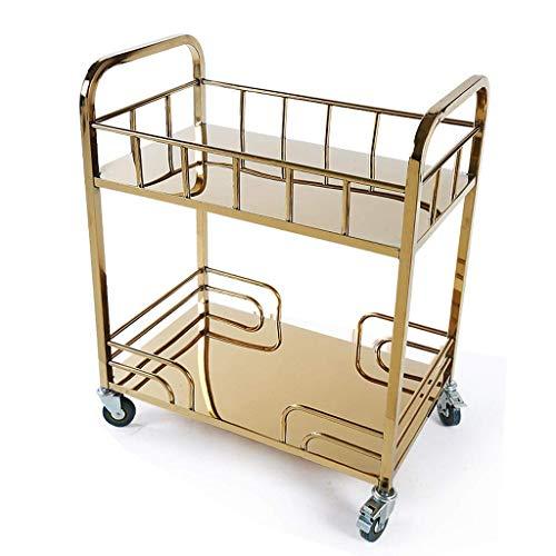 LQUIDE Werkzeugwagen - Edelstahl-Titan-Service-Auto-Tee-Wagen Hotel-Nachtisch-Auto-Laufkatze-beweglicher Regal-Speicher-Wagen (Größe: 72X42X84Cm), 72X42X84Cm -