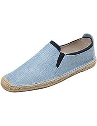 02d72b8d5407c Jitong Élastique Espadrille Loafers pour Hommes Slip-on Mocassins Bout Rond  Chaussons Basses d