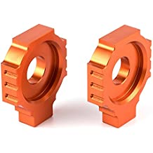 Nawenson - Bloques de ajuste del tensor de cadena para el eje trasero - Para motos