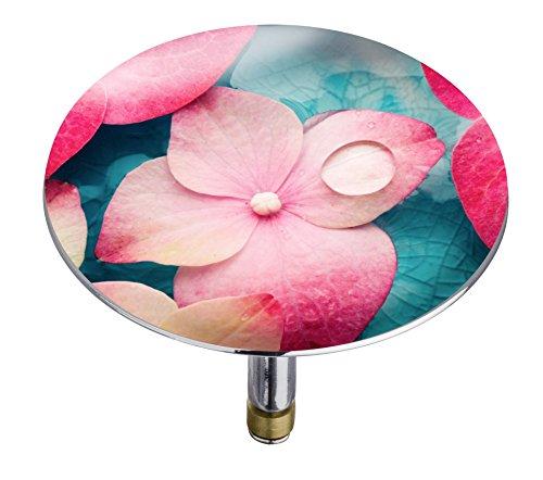 Wenko 21840100 Badewannenstöpsel Pluggy XXL Orchid Abfluss-Stopfen für alle handelsüblichen Abflüsse, Plastik, mehrfarbig, 7,5 x 7,5 x 6 cm
