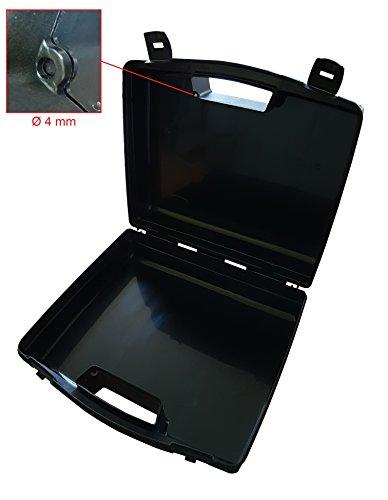 Kunststoffkoffer leer in schwarz, Außenmaß: 320x280x119 mm - 4