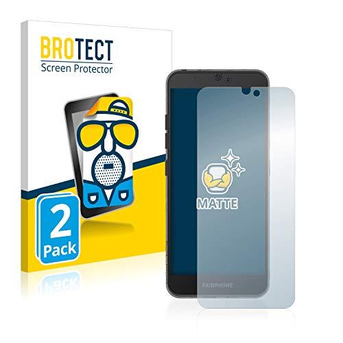 brotect pellicola protettiva opaca compatibile con fairphone 3 pellicola protettiva anti-riflesso (2 pezzi)