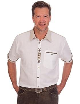 H1520 - Trachten Herren Hemd mit 1/2 Arm - weiß