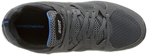 Skechers Vim Turbo Ride, Baskets Basses Garçon Gris (Gris/Gris)