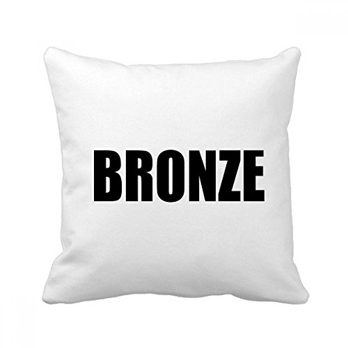 DIYthinker Bronze Farbe Schwarz-Name-Platz Dekokissen Kissenbezug Startseite Dekor-Geschenk 40 x 40cm (Es gibt einige Messfehler) Mehrfarbig -