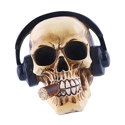 el Zubehör Halloween Halloweenparty Halloweendeko - Schädel mit Kopfhörer ()