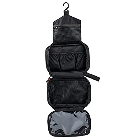 BIGWING Style Waterproof Travel Toiletry Bag Organizer Cosmetic Bag for Women&Men Shaving,Travel Accessories,Personal Items,Makeup,Cosmetics with Hook