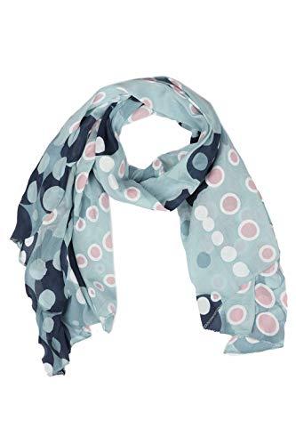 Zwillingsherz Seiden-Tuch im Punkte Design - Hochwertiger Schal für Damen Mädchen - Halstuch - Umschlagstuch - Loop - weicher Schlauchschal für Frühjahr Sommer Herbst und Winter - hbl