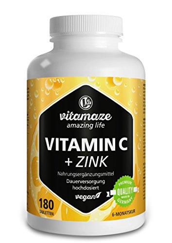 Vitamaze | Amazing Life: Vitamina C + Zinc La vitamina C y el zinc son elementos importantes para el sistema inmunológico. Cuando se toman por separado, la vitamina C y el zinc son importantes para muchas funciones diferentes del organismo humano. Co...