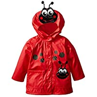 wall-8-CC Windproof Snowsuit Jacket Cute Frog Beetle Kids Raincoat Hooded Waterproof Boys Girls Rain Coat Rainwear/Rainsuit Student Poncho