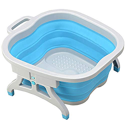WENZHEN Fußbad Fußpflege Waschen Reinigungspflege, Fußpflege Wasser Relaxes Spray Tub Schüssel, Haushalts Thick Fässer Detox Soaking Fuß Wanne Pediküre @ Blue -