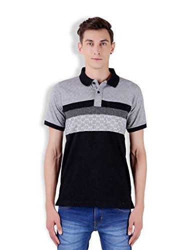 Tapasya Black Melange Polo T-Shirt