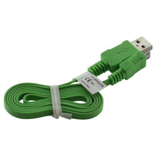 OTB Datenkabel Micro-USB - 0.95m - Flachbandkabel - hellgrün