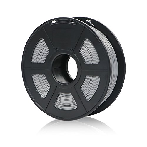 ANYCUBIC PLA+ 3D Drucker Filament, Toleranz beim Durchmesser liegt bei +/- 0,02mm, 1kg Spule, 1.75mm für 3D-Drucker und 3D-Stifte,Verschiedene Farben (Silber)