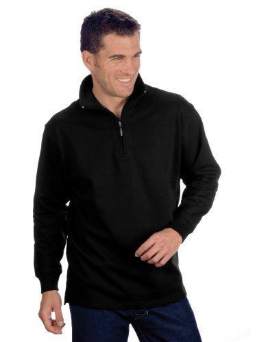 QUALITYSHIRTS Troyer Sweatshirt, Gr. 6XL, schwarz