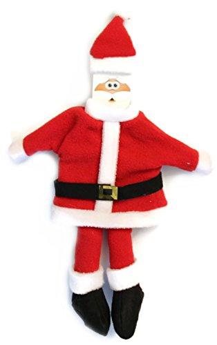 Bada Bing 2 tlg. Set hochwertige Flaschenverpackung Weihnachtsmann Flaschenüberzug Flasche Geschenk Santa ootb