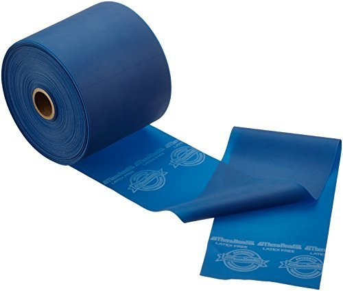 Theraband Latex-Free Resistive Exercise Band 25 yd - Extra Heavy Resistance Dispenser Pack, Blue by Theraband (Thera-band Pack Dispenser)