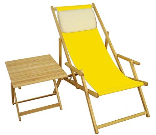 Sedie A Sdraio Da Mare.Sedia Da Spiaggia Giallo Sdraio Da Giardino Sdraio Spiaggia Tavolo