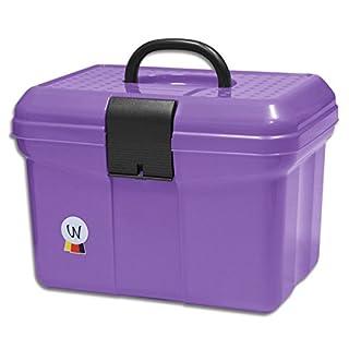 Tack Grooming Box Grooming Box with Handles adjustable divider Grooming Box Purple