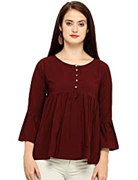 J B Fashion Women's Plain Regular Fit Shirt