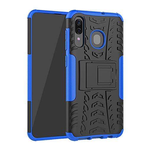 betterfon | Samsung Galaxy A50 SM-A505 Outdoor Handy Tasche Hybrid Case Schutz Hülle Panzer TPU Silikon Hard Cover Bumper für Samsung Galaxy A30s SM-A307 Blau