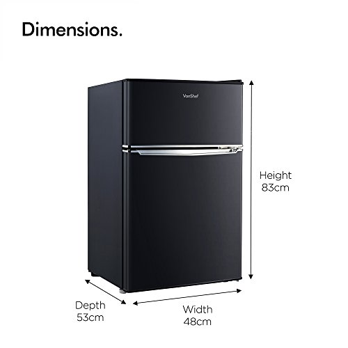 41GwQ38nZsL. SS500  - VonShef 85L Freestanding Under Counter Fridge Freezer With Reversible Door, Adjustable Temperature Control and Internal…