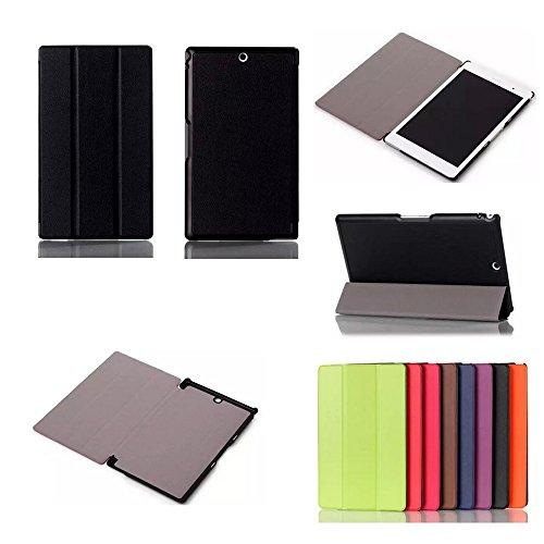 Schutzhülle Leder Stil Luxus Ultra Slim Tablet Sony Xperia Z3Tablet Compact sgp611/sgp6218GB/16GB/32GB schwarz (WiFi/3G/LTE/4G) mit Multi Stand-Schutzhülle schwarz XEPTIO authentische Sony Xperia Z3Compact Tablet 8Zoll-Preis Entdeckung Zubehör Samt-Schutz XEPTIO Cover: Exceptional Case. - 3g Luxe Case