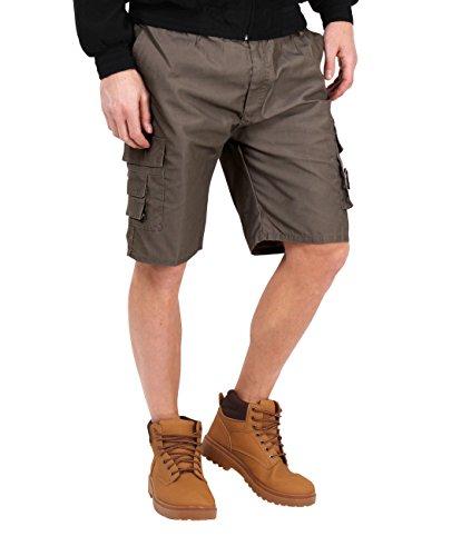 KRISP 7951-MUD-L: Herren Cargo Shorts (Braun, Gr.L) -