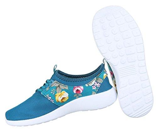Damen Freizeitschuhe Schuhe Runner Sportschuhe Low-top Sneakers Schnürer Schwarz Türkis Rot Weiß 36 37 38 39 40 41 Türkis