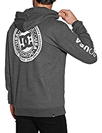 DC Shoes Circle Star Top, Hombre, Heather Charcoal, XXL