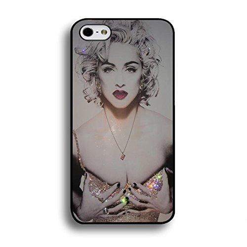 Coque Hot Bling Diamant Dressed Super Singer Madonna Ciccone Téléphone Coque pour iPhone 6Plus/6S Plus (14cm) Madonna New élégant