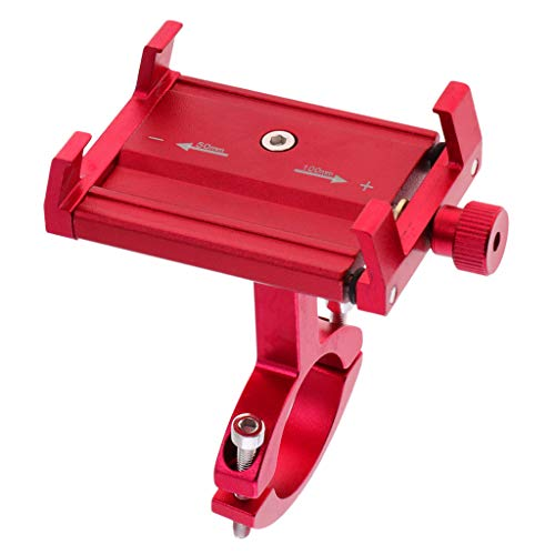 P Prettyia Support Tablet Phone Support for Cars Design Aluminum Alloy Mounting Kit for Cycling - Red
