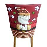 Ansenesna Stuhlhussen Weihnachten Dekoration Stretch Husse Weihnachtsmann Snowman Deko Für Weihnachts Festlich Party (Weihnachtsmann)