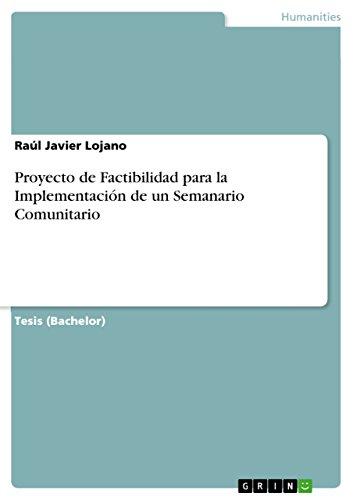 Proyecto de Factibilidad para la Implementación de un Semanario Comunitario por Raúl Javier Lojano
