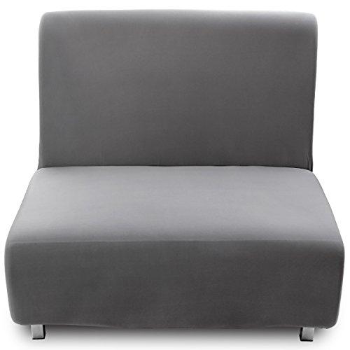 Anladia 1 Sitzer Grau Sofahusse Sofabezüge Sofabezug Sesselbezug Sesselüberwurf Sofa Husse Möbelschutz Sofaschoner Stretchhusse Universal