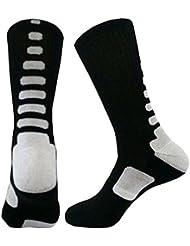 HENGSONG Men Boy Sports Socks Basketball Football Fitness Cotton Cushioned Athletic Long Socks