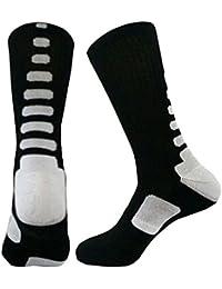 HENGSONG Noir Blanc Hommes Basket-ball Chaussettes Chaussettes Energie Gaotong Elasticité Sport Chaussettes