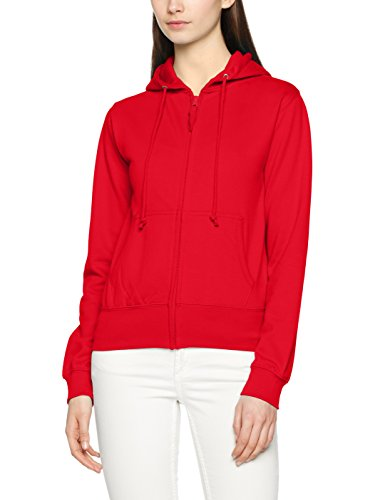 AWDis Girlie Zoodie, Sudadera con Capucha para Mujer, Rojo (Fire Red FRE), 38 (Talla del Fabricante:S)